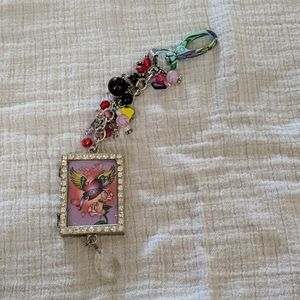 Fun, Colorful Cluster Purse Charm or Keychain